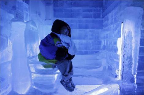 лед и вода в унитазе